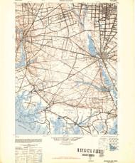 Bridgeton, New Jersey 1948 (1948b) USGS Old Topo Map 15x15 Quad