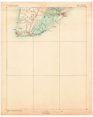 Cape May, New Jersey 1888 (1888) USGS Old Topo Map 15x15 Quad