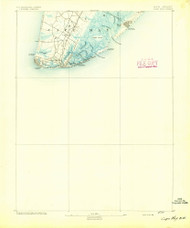 Cape May, New Jersey 1893 (1893) USGS Old Topo Map 15x15 Quad