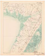 Dennisville, New Jersey 1888 (1888) USGS Old Topo Map 15x15 Quad