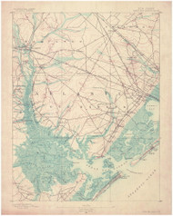 Great Egg Harbor, New Jersey 1890 (1890) USGS Old Topo Map 15x15 Quad