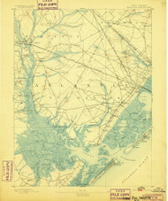 Great Egg Harbor, New Jersey 1893 (1899) USGS Old Topo Map 15x15 Quad