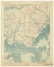 Little Egg Harbor, New Jersey 1888 (1888) USGS Old Topo Map 15x15 Quad