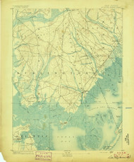 Little Egg Harbor, New Jersey 1893 (1893) USGS Old Topo Map 15x15 Quad