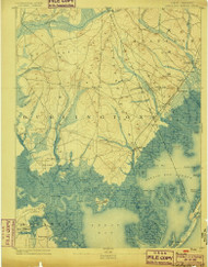 Little Egg Harbor, New Jersey 1893 (1899) USGS Old Topo Map 15x15 Quad