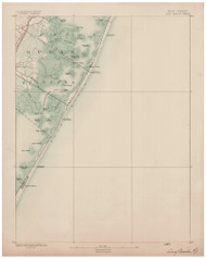 Long Beach, New Jersey 1888 (1888) USGS Old Topo Map 15x15 Quad