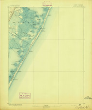 Long Beach, New Jersey 1893 (1893) USGS Old Topo Map 15x15 Quad