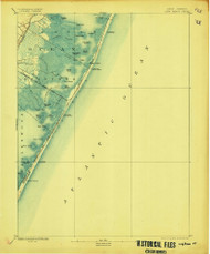 Long Beach, New Jersey 1893 (1907) USGS Old Topo Map 15x15 Quad