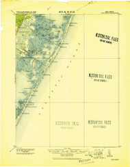 Long Beach, New Jersey 1919 (1919) USGS Old Topo Map 15x15 Quad