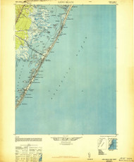 Long Beach, New Jersey 1948 (1948a) USGS Old Topo Map 15x15 Quad