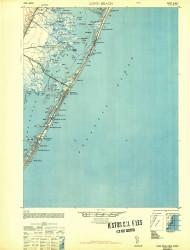 Long Beach, New Jersey 1948 (1948b) USGS Old Topo Map 15x15 Quad