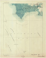 Maurice Cove, New Jersey 1890 (1890) USGS Old Topo Map 15x15 Quad
