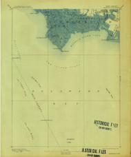 Maurice Cove, New Jersey 1891 (1913) USGS Old Topo Map 15x15 Quad