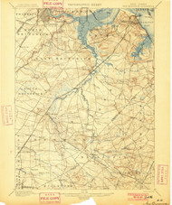 New Brunswick, New Jersey 1901 (1901) USGS Old Topo Map 15x15 Quad