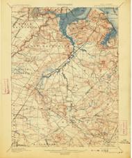 New Brunswick, New Jersey 1901 (1913) USGS Old Topo Map 15x15 Quad