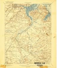 New Brunswick, New Jersey 1901 (1920) USGS Old Topo Map 15x15 Quad