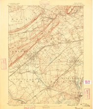 Plainfield, New Jersey 1888 (1888) USGS Old Topo Map 15x15 Quad