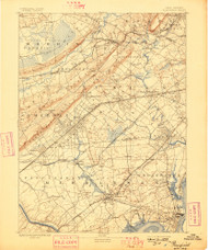 Plainfield, New Jersey 1893 (1898) USGS Old Topo Map 15x15 Quad