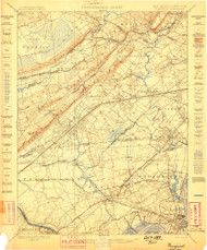 Plainfield, New Jersey 1898 (1898) USGS Old Topo Map 15x15 Quad