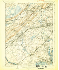 Plainfield, New Jersey 1905 (1925) USGS Old Topo Map 15x15 Quad