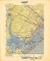 Pleasantville, New Jersey 1942 (1942a) USGS Old Topo Map 15x15 Quad