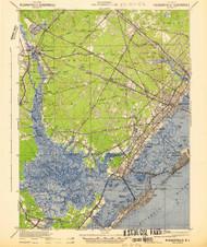 Pleasantville, New Jersey 1942 (1942b) USGS Old Topo Map 15x15 Quad