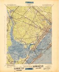 Pleasantville, New Jersey 1943 (1942) USGS Old Topo Map 15x15 Quad