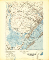 Pleasantville, New Jersey 1948 (1948a) USGS Old Topo Map 15x15 Quad