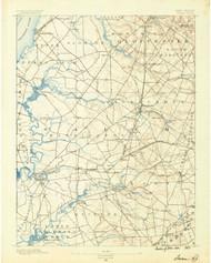 Salem, New Jersey 1890 (1890) USGS Old Topo Map 15x15 Quad