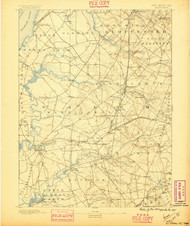 Salem, New Jersey 1890 (1895) USGS Old Topo Map 15x15 Quad
