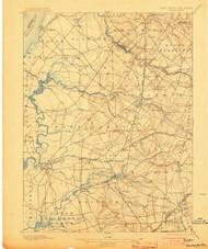 Salem, New Jersey 1898 (1903) USGS Old Topo Map 15x15 Quad