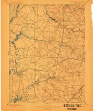 Salem, New Jersey 1898 (1911) USGS Old Topo Map 15x15 Quad