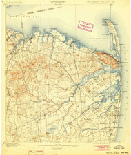 Sandy Hook, New Jersey 1901 (1904) USGS Old Topo Map 15x15 Quad