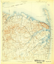 Sandy Hook, New Jersey 1901 (1907) USGS Old Topo Map 15x15 Quad