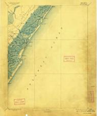 Sea Isle, New Jersey 1894 (1909) USGS Old Topo Map 15x15 Quad