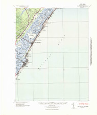 Sea Isle City, New Jersey 1941 (1941) USGS Old Topo Map 15x15 Quad