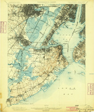 Staten Island, New Jersey 19900 (1900) USGS Old Topo Map 15x15 Quad