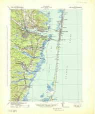 Toms River, New Jersey 1941 (1941) USGS Old Topo Map 15x15 Quad