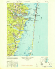 Toms River, New Jersey 1948 (1948b) USGS Old Topo Map 15x15 Quad