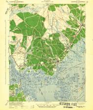 Tuckerton, New Jersey 1942 (1942b) USGS Old Topo Map 15x15 Quad