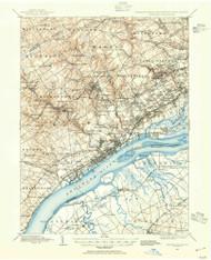 Chester, Pennsylvaniya 1894 (1954) USGS Old Topo Map 15x15 Quad