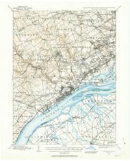 Chester, Pennsylvaniya 1894 (1963) USGS Old Topo Map 15x15 Quad