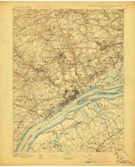 Chester, Pennsylvaniya 1896 (1896) USGS Old Topo Map 15x15 Quad