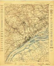 Chester, Pennsylvaniya 1898 (1898) USGS Old Topo Map 15x15 Quad