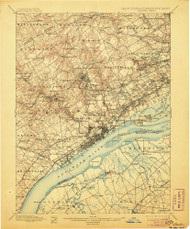 Chester, Pennsylvaniya 1898 (1906) USGS Old Topo Map 15x15 Quad