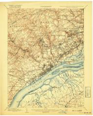 Chester, Pennsylvaniya 1898 (1917) USGS Old Topo Map 15x15 Quad