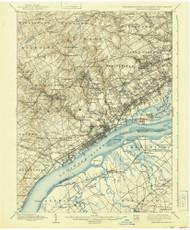 Chester, Pennsylvaniya 1898 (1939) USGS Old Topo Map 15x15 Quad