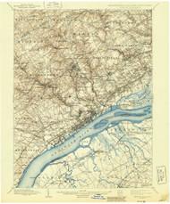 Chester, Pennsylvaniya 1898 (1944) USGS Old Topo Map 15x15 Quad
