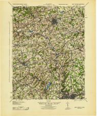 West Chester, Pennsylvaniya 1943 (1943) USGS Old Topo Map 15x15 Quad