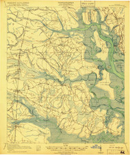Bladen, Georgia 1918 (1918) USGS Old Topo Map 15x15 Quad